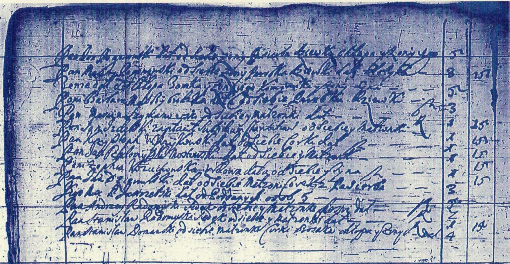 Żródło: jw., c.d. spisu głów ze wsi Radomysl
