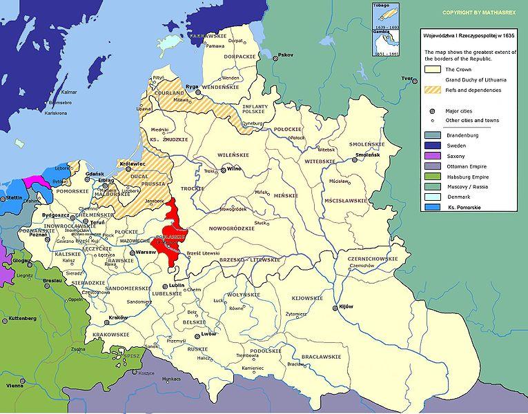 Woj. podlaskie, 1635 r./wikipedia /
