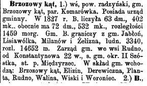 Słownik geograficzny Królestwa Polskiego t.I s. 427 wyd. 1880 r.
