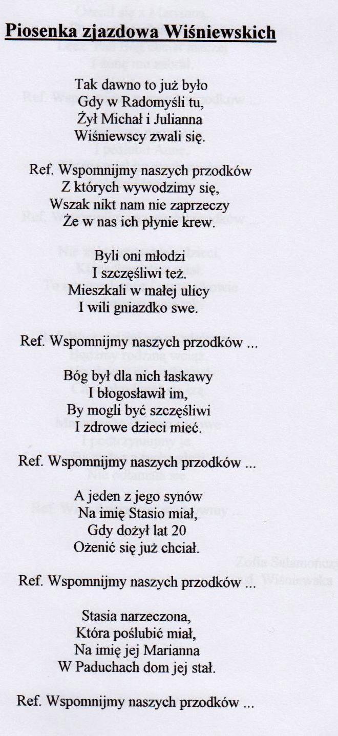 Piosenka zjazdowa