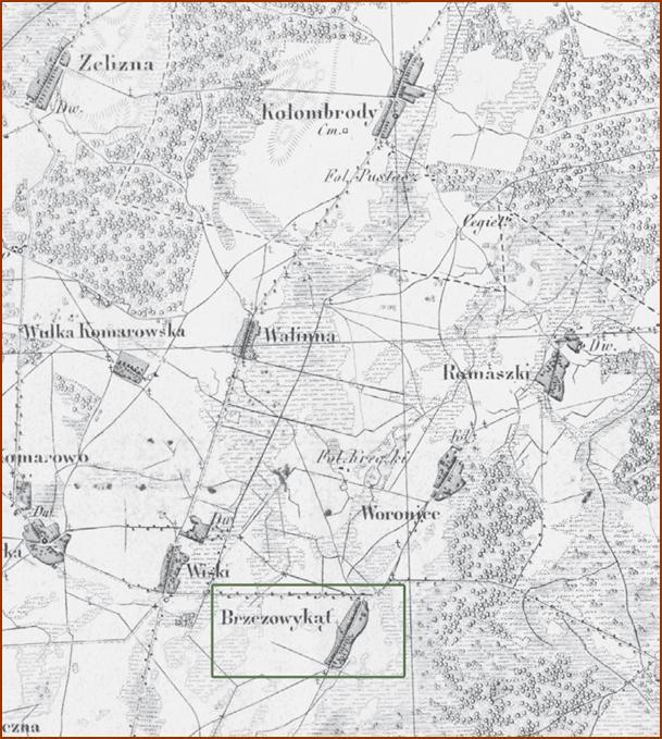 Topograficzna Karta królestwa Polskiego, W-wa 1839, zam. w pracy L.Zugaja